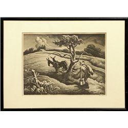 Thomas Hart Benton, lithograph