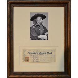 George Custer Signed Check