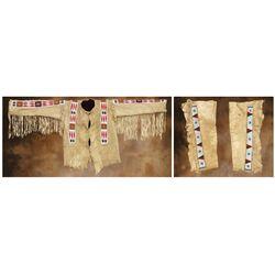 Lakota Beaded Shirt and Leggings