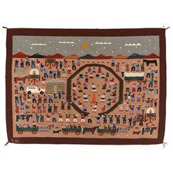 """Navajo Pictorial Weaving, 5'6"""" x 4'"""