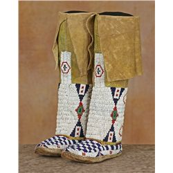 Cheyenne Beaded Leggings and Moccasins