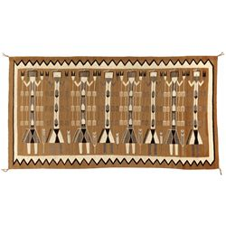 "Navajo Yei Weaving, 8'9"" x 4'8"""