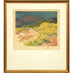 Gustave Baumann, color woodblock