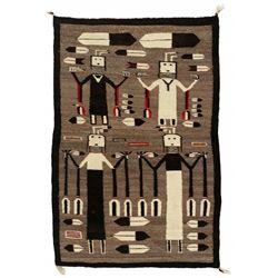 "Navajo Yei Weaving, 4'3"" x 2'10"""