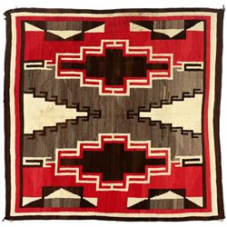 "Navajo Weaving, 6'4"" x 6'2"""
