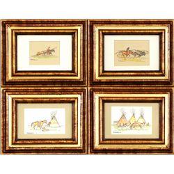 Nancy McLaughlin, four miniatures