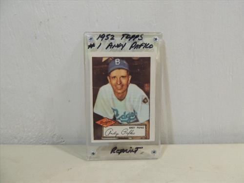 Reprint 1952 Topps 1 Baseball Card Andy Pafko