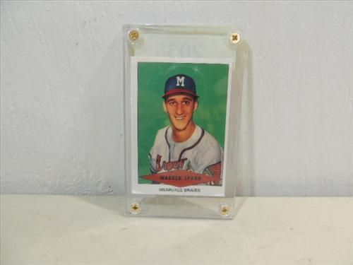 Reprint 1953 Red Heart Baseball Card Warren Spahn