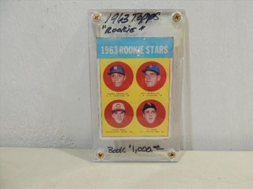 1963 Topps 537 Baseball Rookie Card Pete Rose