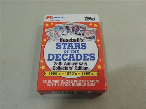 1987 Topps Kmart Stars Of Decade Baseball Cards