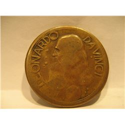1940 Leonardo Da Vinci Commemorative Art Medal