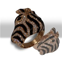 Zebra Diamond Ring
