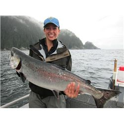 4-day/5-night Alaskan Salmon and Halibut Fishing Trip for Two Anglers
