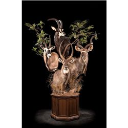 Plains Game Combination Pedestal Mount