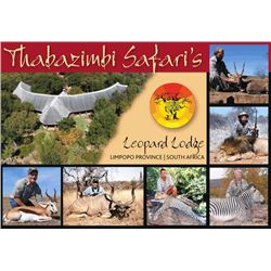 12-day South Africa Plains Game Hunt for Two Hunters and Two Observers