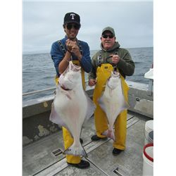 3-day/4-night Alaskan Salmon and Halibut Fishing Trip for Two Anglers