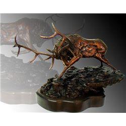 Majestic Bull Elk Bronze