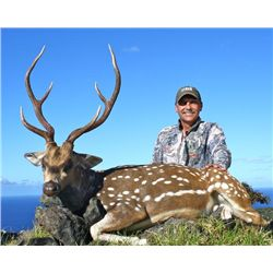 2 1/2-day Hawaii Free-Range Trophy Axis Deer & Feral Goat Combo Package for One Hunter and One Obser