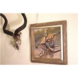 Original Oil Painting and Bronze Sculpture