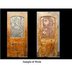 Myrtle Door with Artistic Panels