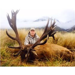 5-day New Zealand Red Stag Hunt and $500 Credit Toward Additonal Species for One Hunter and One Obse