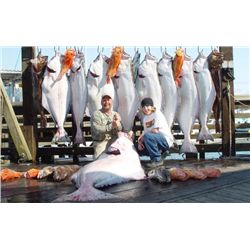 6-day/7-night Alaska Halibut, Salmon, Lingcod and Rockfish Fishing Trip for One Angler