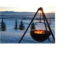 Cowboy Cauldron Fire Pit & Grill