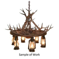 Custom Wagon Wheel Chandelier