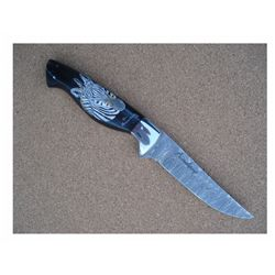 Handmade Beauchamp Hunting Knife with Water Buffalo Horn Handle