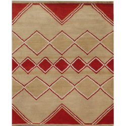 Hand-Knotted Tibetan Carpet