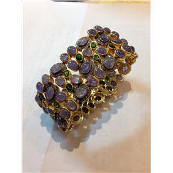 Gemstone and Diamond Bracelet