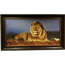 Original Wildlife Oil on Canvas by Renowned Chinese Artist, Dexion Li