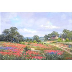 """Hill Country Homestead"" - Original Oil Painting by Kay Walton"