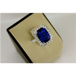 8-Carat Tanzanite and Diamond Ring