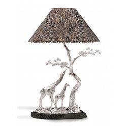 'The Giraffe Lamp' in Solid Sterling Silver