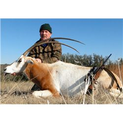 DREAM ADVENTURE-1: 2-Day Scimitar-Horned Oryx Hunt for One Hunter and One Non-Hunter in Texas