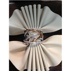 RAFFLE-2: Stunning Ladies Custom Diamond Ring in White and Rose Gold