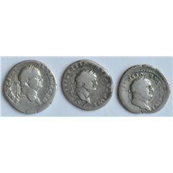 Vespasian AD 69-67 - Lot of Three