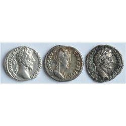 Antoninus Pius AD 138-161 - Lot of Three