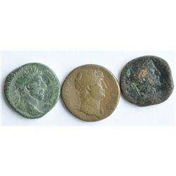 2nd Century AD Roman Large Bronzes - Lot of Three