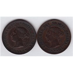 Lot of Two 1891 One Cent