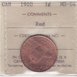 1910 One Cent