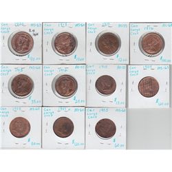 Lot of Eleven One Cents