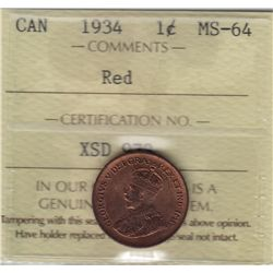 1934 One Cent
