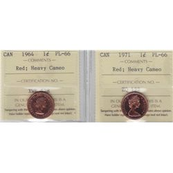 Lot of Two ICCS Graded One Cents