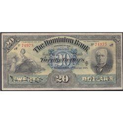 1925 Dominion Bank $20