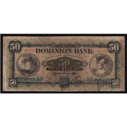 1901 Dominion Bank $50