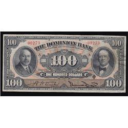 Elusive 1931 Dominion Bank $100