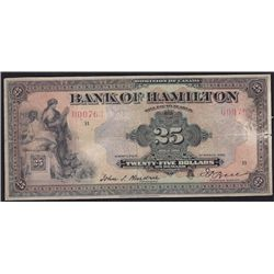 1922 Bank of Hamilton$25