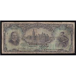 1914 Banque D'Hochelaga $20